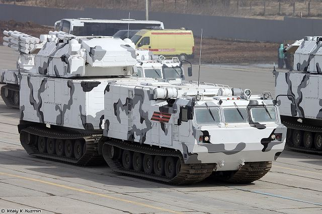 TOR-M2DT Arctic short-range air defense missile system